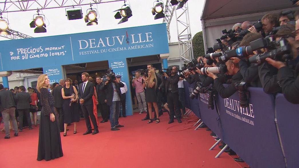 Stars promenade at the Deauville American Film Festival
