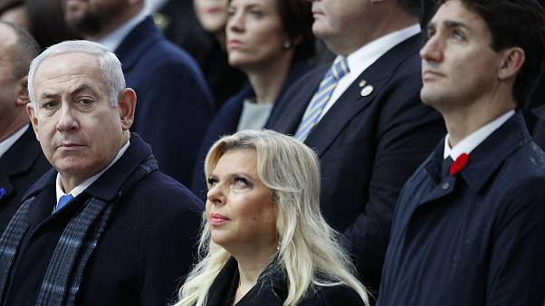 Image: Prime Minister Benjamin Netanyahu, left, and his wife Sara, with Can