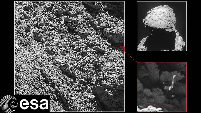 Over the moon: delight as space probe Philae is found