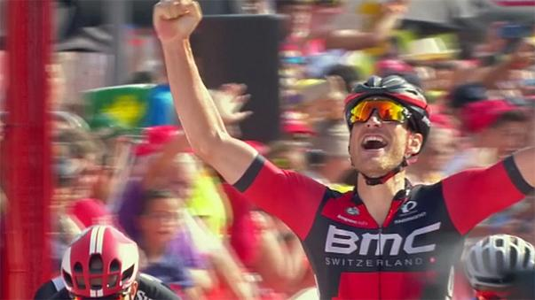 Vuelta a Espana: Jempy Drucker claims first grand tour stage win