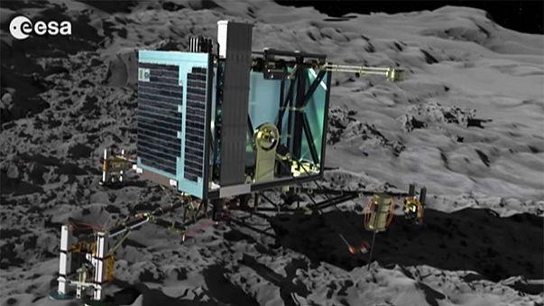 La sonda Rosetta localiza al robot Philae atrapado en una grieta del cometa Churyumov-Gerasimenko