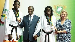 Ivorian Olympic medalists get cash and house rewards from President