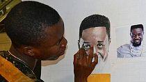 Ghanaian artist draws his way through gymnastics