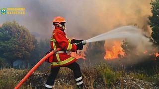 النيران تأتي على نحو 400 هكتار من الغابات جنوبي فرنسا