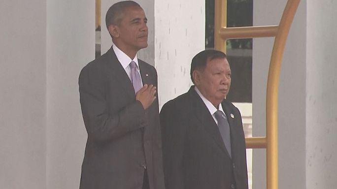Обама прибыл в Лаос для участия в саммитах