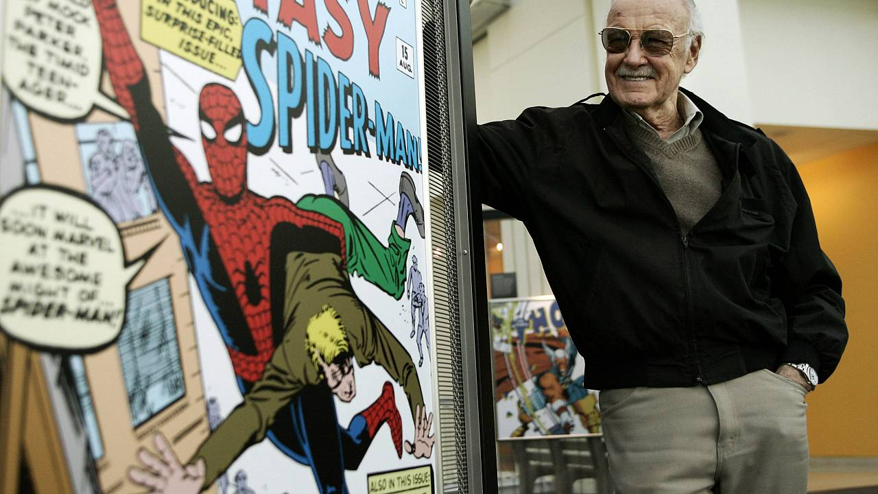 Stan Lee, creator of legendary Marvel comic book superheroes