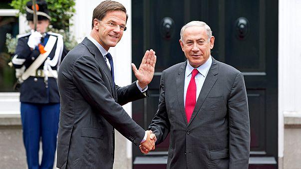 Proteste gegen Besuch Netanjahus in den Niederlanden