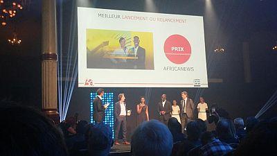 Africanews reçoit son premier award au Grand Prix des Médias de CB News