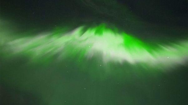 Espectacular aurora boreal en Finlandia