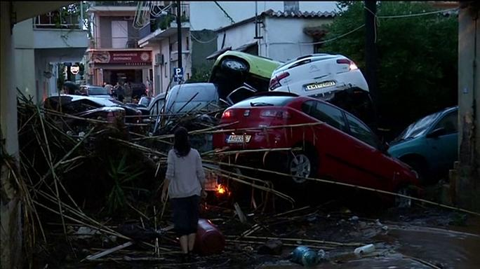 Greece hit by flash floods