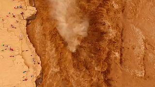 Las cataratas de Hokou alzancan su momento más espectacular