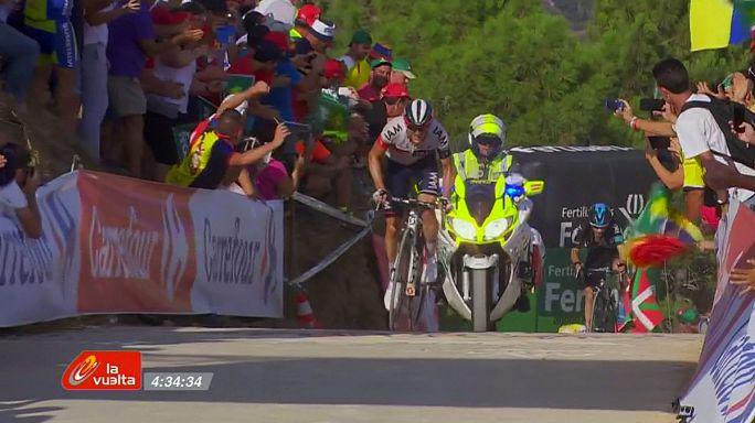 Vuelta: Frank vince la 17.a tappa, i big four insieme al traguardo