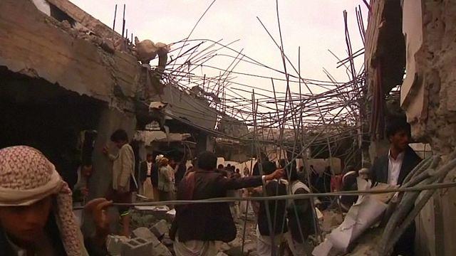 Koalisyon yine Yemen'i vurdu