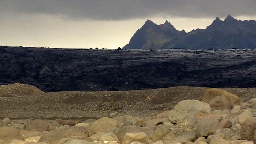 Исландия: тающий ледник меняет ландшафт