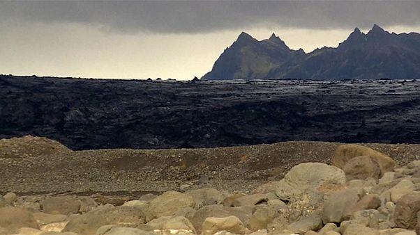 Küresel ısınma İzlanda'da Orta Çağ'dan beri var olan buzulu eritti