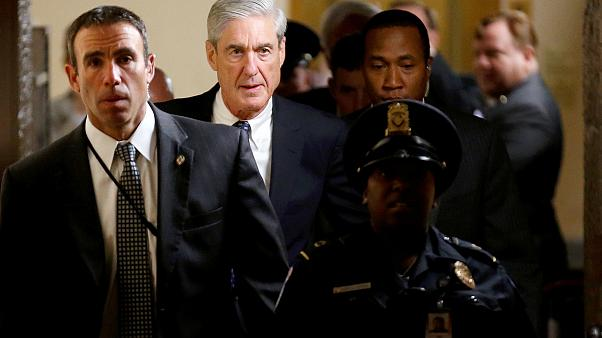 Image: Special Counsel Robert Mueller departs after briefing members of the