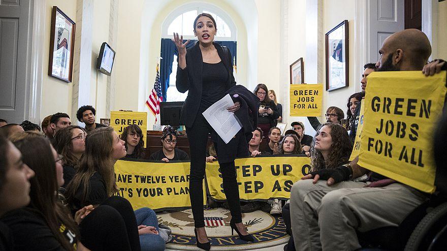 Alexandria Ocasio-Cortez, congresswoman-elect from New York, speaks to acti