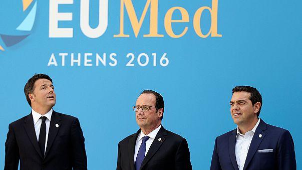 AB üyesi Akdeniz ülkelerinin liderleri Atina'da buluştu