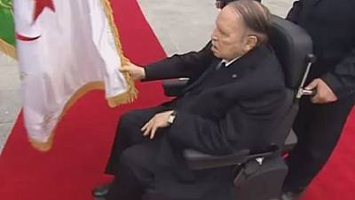 Algeria's Bouteflika makes rare public appearance