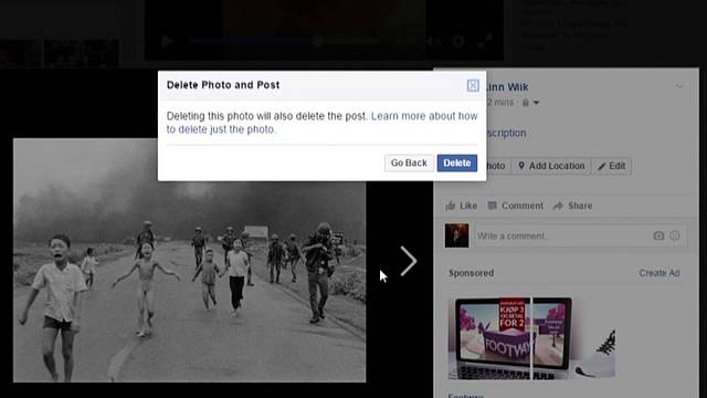 Çıplak 'napalm kız' fotoğrafını kaldıran Facebook geri adım attı