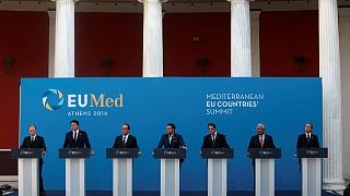 Akdeniz Avrupası liderleri Atina'da biraraya geldi