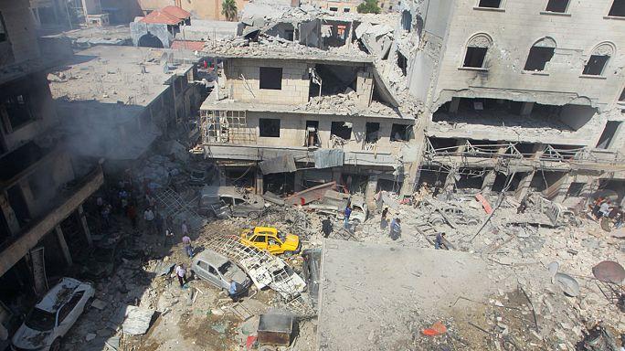 Сирия: авиаудар по городу Идлиб за два дня до прекращения огня