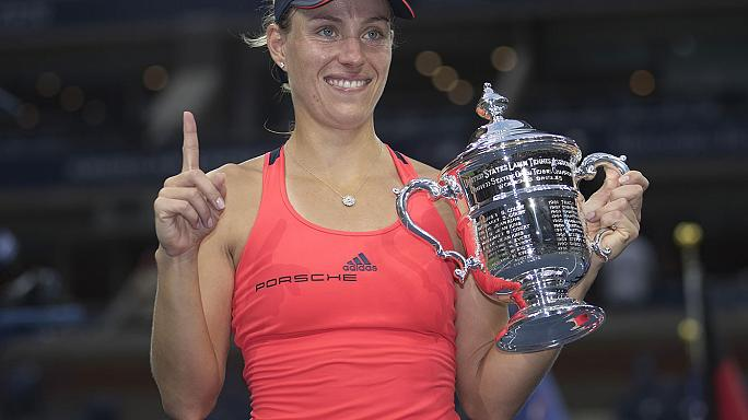 الألمانية أنجيليك كيربر تفوز بالبطولة الأمريكية المفتوحة للتنس