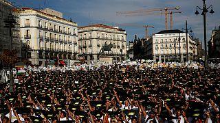Demo gegen Stierkämpfe in Madrid