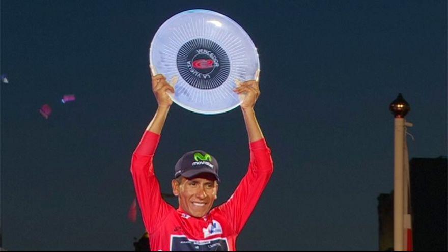 Nairo Quintana is crowned winner of the Vuelta a Espana