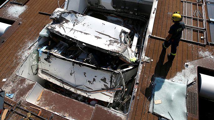 Dos muertos al chocar un crucero con un puente en el Danubio