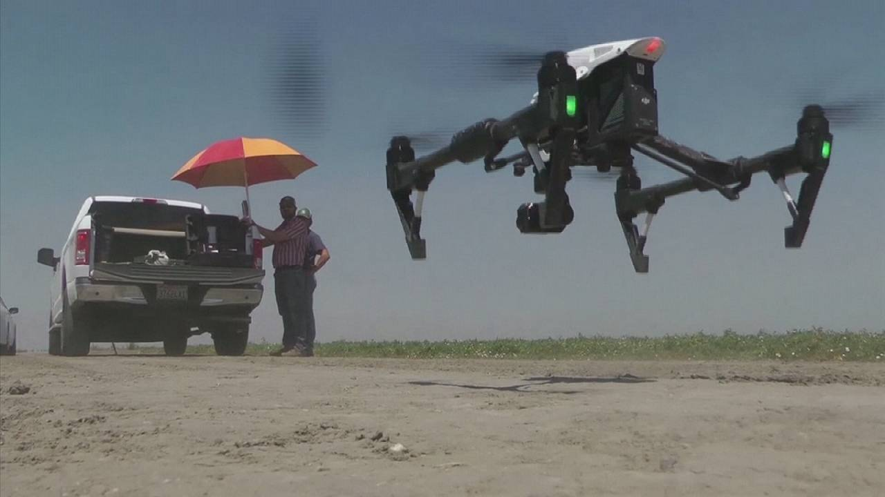 Farmers use Drones to fight Drought