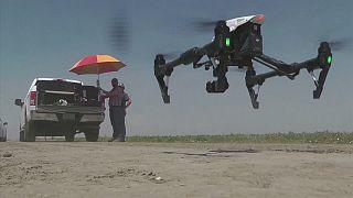 Drones para luchar contra la sequía en California