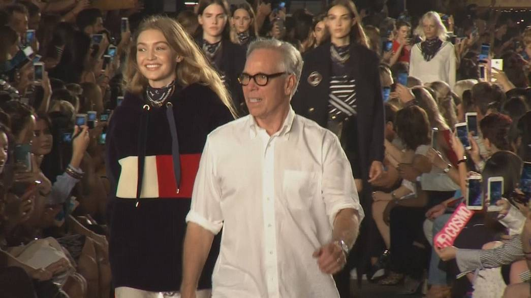 Tommy Hilfiger se rinde al desenfado de Gigi Hadid en Nueva York