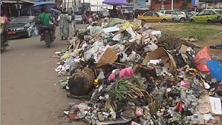 Garbage piles up in Douala, Cameroon