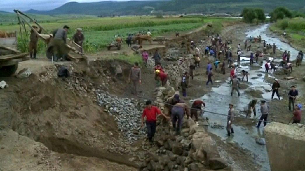 نگرانی صلیب سرخ از عوارض جاری شدن سیل در کره شمالی