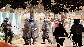 Zimbabwe police ban protests again