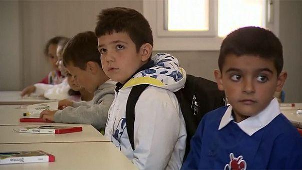 Первый учебный день после землетрясения в Аматриче
