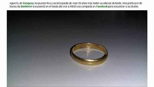 Diver finds couple's lost wedding ring after nearly 40 years