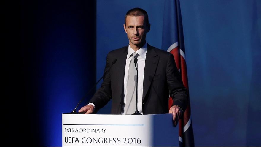 Football: Slovenian Aleksander Ceferin elected new head of UEFA