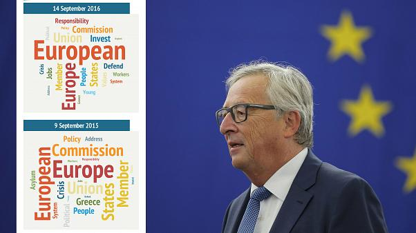 """""""Defender"""", """"responsabilidad"""", las palabras clave del discurso sobre la UE de Juncker"""