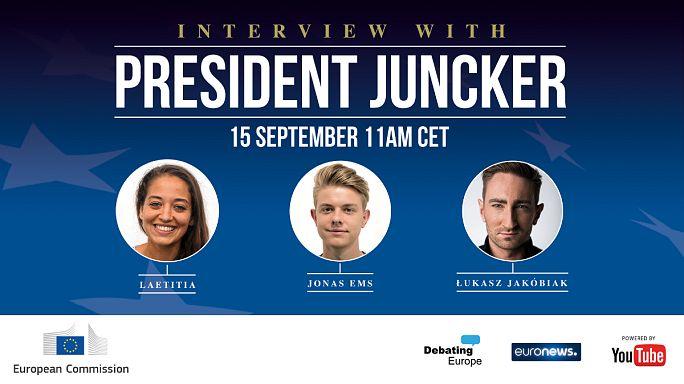Tres jóvenes cara a cara con Juncker #AskJuncker