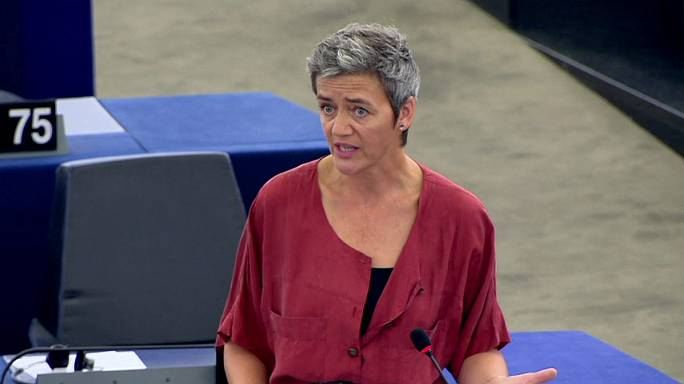 Ue: commissaria Vestager difende la decisione su Apple all'europarlamento