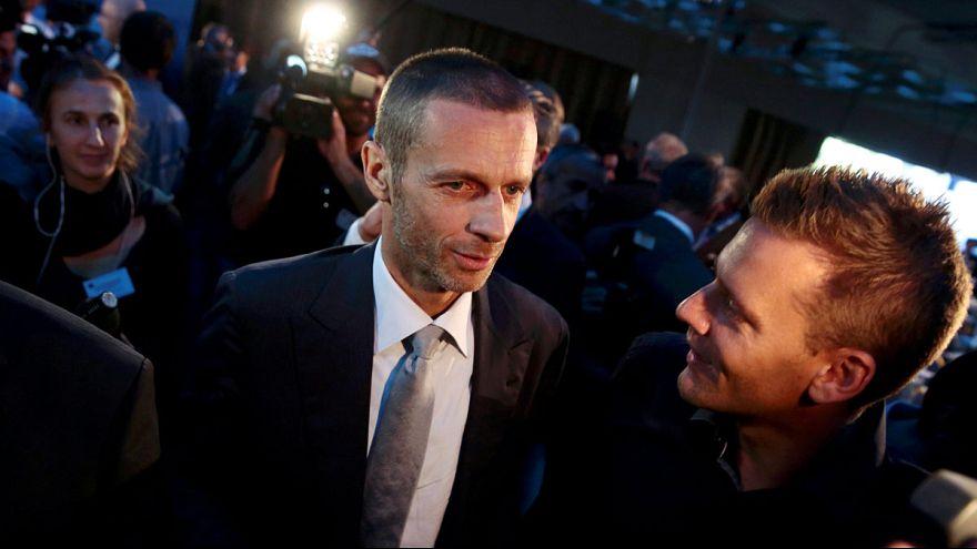 Slovenian Ceferin succeeds Platini as UEFA president following landslide election
