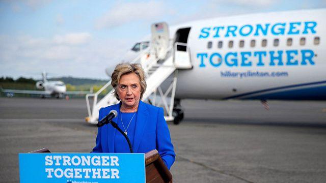 Clinton miting alanlarına dönüyor