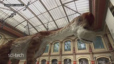 Dinosaurs come to life with 3D glasses