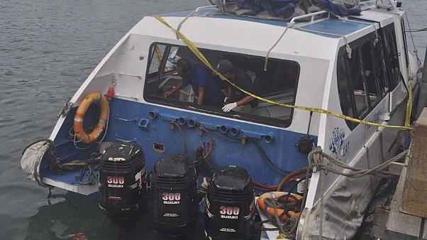 At least one dead, over a dozen hurt in blast on Bali tourist boat