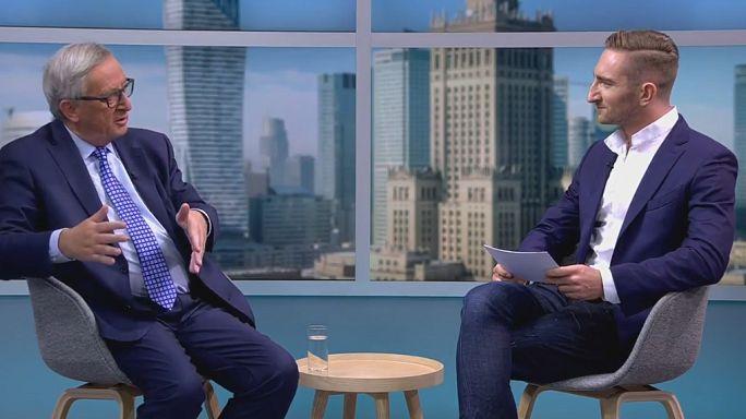 الشباب الأوروبي يسأل رئيس المفوضية الأوروبية جان كلود يونكر عن الفساد ومستقبل الإتحاد