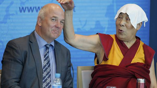 Dalai Lama makes time for jokes among political issues at Council of Europe