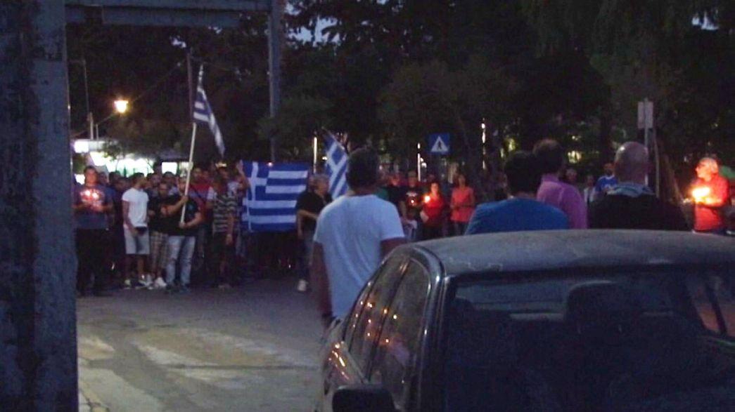 Жители греческого острова протестуют против миграционной политики