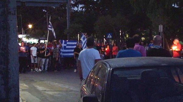 Grèce : manifestation anti-migrants à Chios